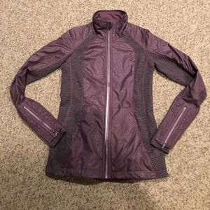 Lululemon Purple n grey workout zip up jacket sz 4
